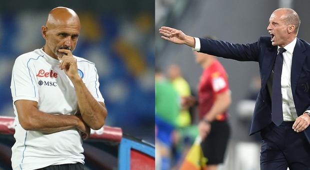 Napoli-Juventus, le probabili formazioni di Spalletti e Allegri