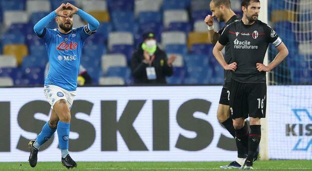 Napoli-Bologna, diretta dalle 20.45: Mertens davanti, Mihajlovic con Palacio