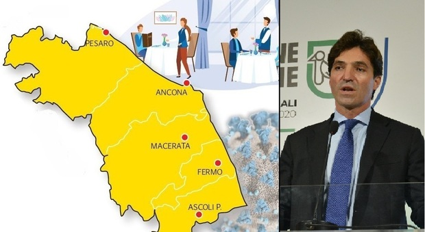 """Le Marche tutte in zona gialla: da domani nessun Comune in """"arancione rafforzato"""""""