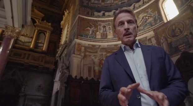"""L'attore camerte Cesare Bocci in una puntata di """"Viaggio nella grande bellezza"""""""