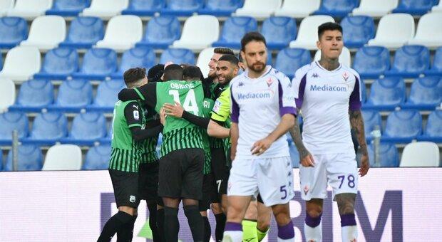 Ottima Fiorentina per un'ora, poi i due rigori per il Sassuolo. Dragowski non voleva andare in porta