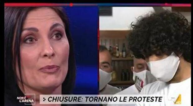 Infuocato faccia a faccia in tv tra Morani e i ristoratori: «Nelle Marche avete tagliato la Sanità»