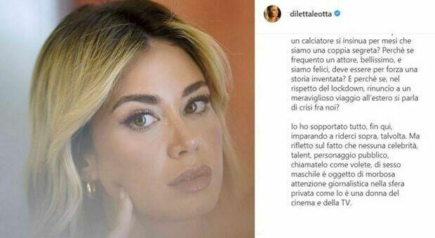 Sfogo social di Diletta Leotta: «Non sono una mangiauomini. Una donna non può avere amici?»