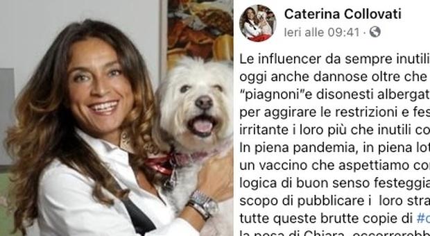 Caterina Collovati contro le influencer: «Brutte copie di Chiara Ferragni». Ecco di cosa parla