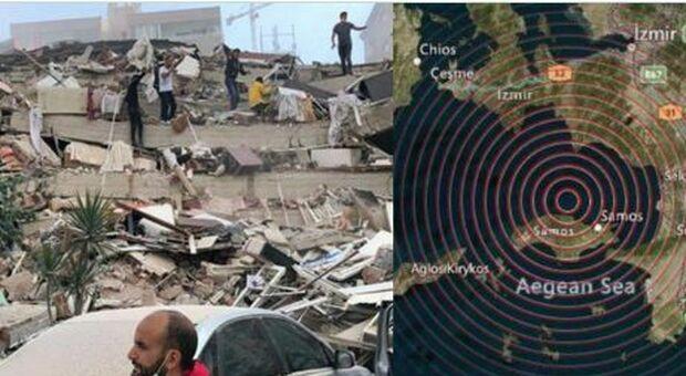 Terremoto di 7.0 sull'isola greca di Samos: a Smirne edifici crollati, paura anche ad Atene