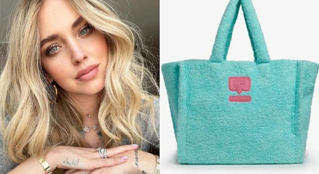 Chiara Ferragni, ecco la borsa da mare di spugna: già sold out. Ecco quanto costa