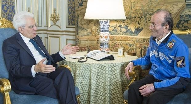 Giuseppe Ottaviani ricevuto dal Presidente della Repubblica Mattarella