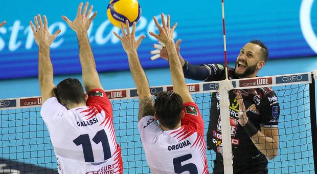 Osmany Juantorena durante Lube-Monza finita 3-1
