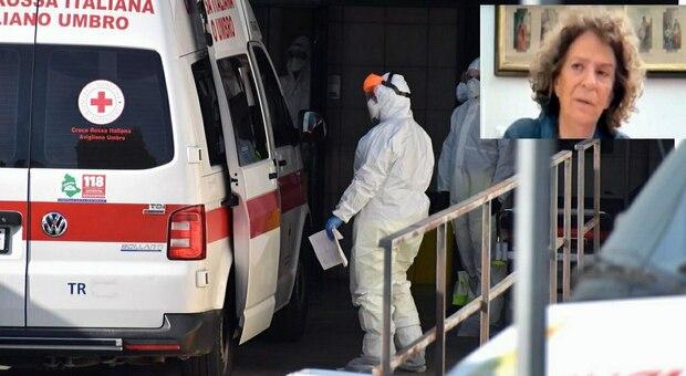 Il pronto soccorso di un ospedale e, nel riquadro, la professoressa Piera Valsenti
