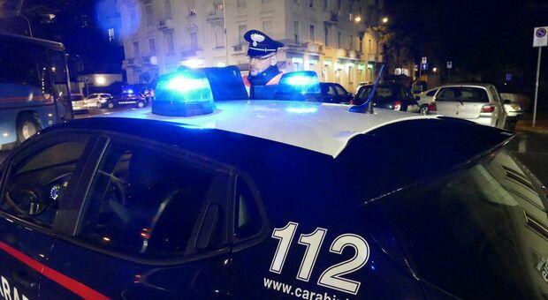 I carabinieri al lavoro di notte