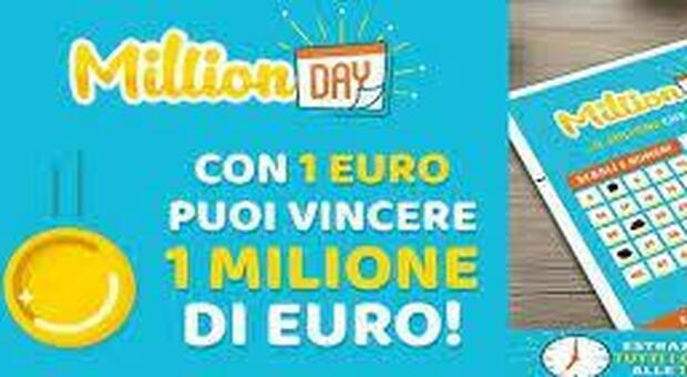 Million Day, estrazione numeri vincenti oggi 22 maggio 2021