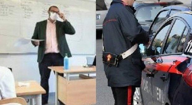 Mantova, insegnava in classe senza mascherina: carabinieri multano 2 volte insegnante no mask
