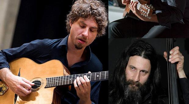 Il quartetto composto da Roberto Beneventi alla fisarmonica, Giammarco Polini e Jacopo Martini alle chitarre e Claudio Mangialardi al contrabbasso