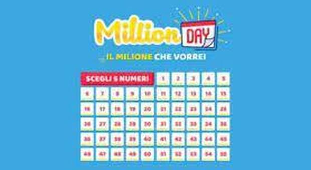 Million Day, l'estrazione dei numeri vincenti di oggi 3 maggio 2021. Con un euro si vince un milione
