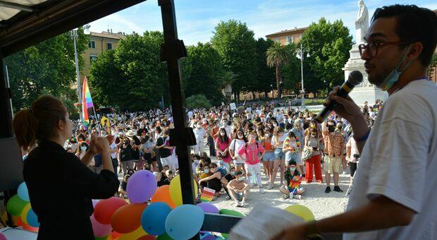 Il Pride si è celebrato in piazza Cavour