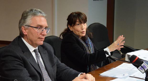 Il governatore Ceriscioli con Lucia Di Furia