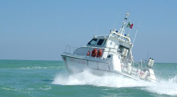 La motovedetta in azione