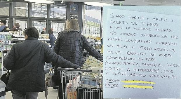 Porto San Giorgio, Marina e Matteo, gli angeli ai tempi del Coronavirus: «Anziani, al supermercato e in farmacia per voi ci andiamo noi, gratis»