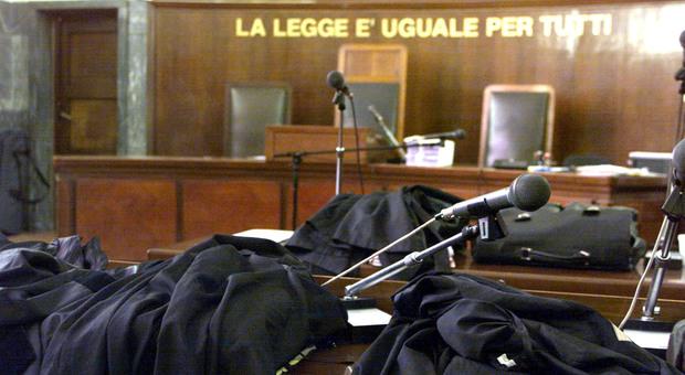 L'aula di tribunale in una foto di repertorio