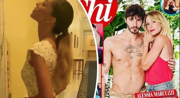 Belen Rodriguez e il gossip su Stefano De Martino e Alessia Marcuzzi, la showgirl intanto festeggia vestita di bianco