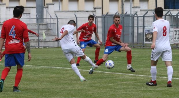 Il gol segnato da Frinconi in Jesina-Anconitana terminata 0-1