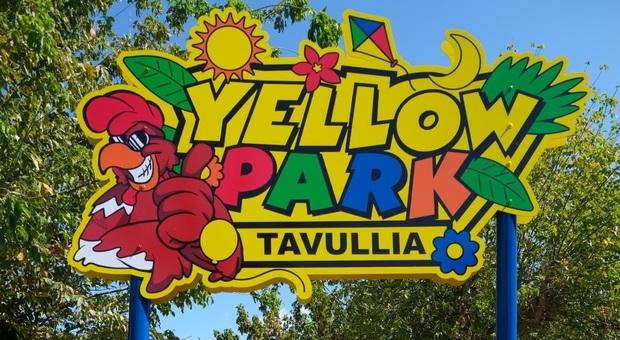 L'insegna del parco giochi di Tavullia