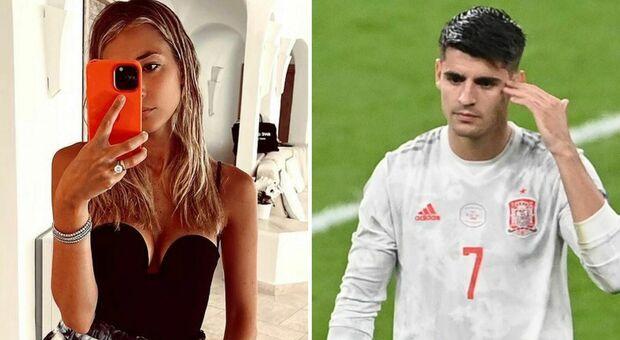 Alice Campello (la moglie di Morata) sommersa di insulti dopo il gol in Italia-Spagna: «I tuoi figli hanno il cancro»