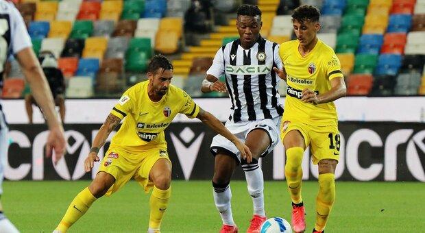 A Udine l'Ascoli in maglia gialla è sotto di tre gol. All'11' del primo tempo Pereyra, poi in tre minuti affonda: 52' Molina, 54' ancora Pereyra