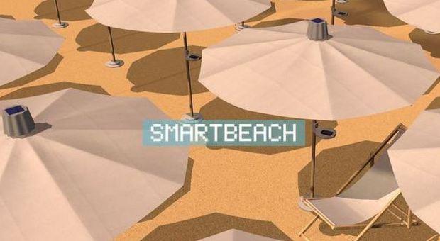 Con l'ombrellone hi tech la spiaggia diventa smart