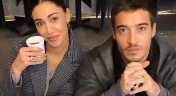 Belen Rodriguez e Antonio Spinalbese (Instagram)