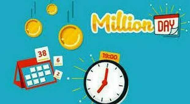 Million Day, alle ore 19 l'estrazione in diretta dei numeri vincenti di oggi