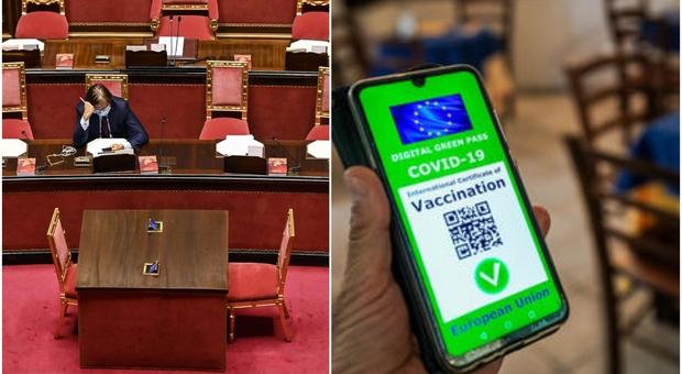 Green pass, il governo accelera: il Senato pone la fiducia e Draghi convoca i sindacati