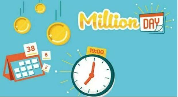 Million Day, l'estrazione dei numeri vincenti di mercoledì 28 luglio