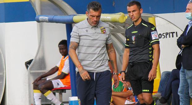 Maurizio Domizzi durante Fermana-Modena 0-4