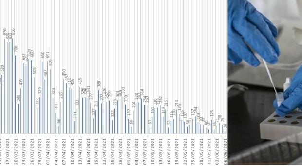Coronavirus, pochi tamponi e soltanto 20 nuovi positivi nelle Marche. E una provincia è già a zero