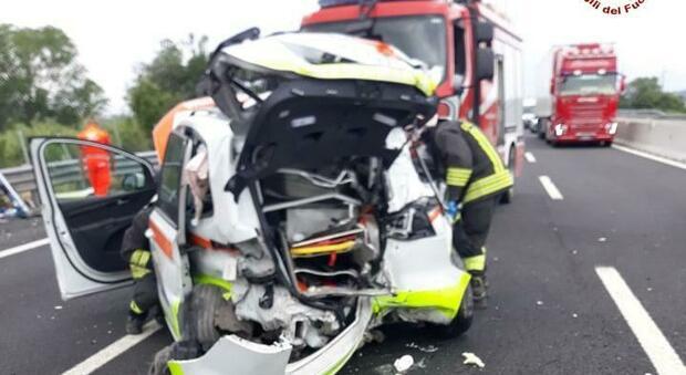L'incidente sull'autostrada A14