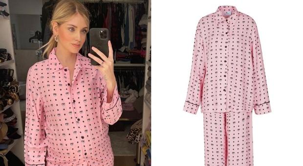 Chiara Ferragni, il pigiama usato in clinica dopo il parto è sold out in poche ore. Ecco quanto costa e dove trovarlo
