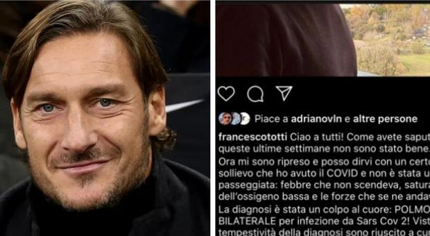 Totti ha sconfitto il virus: «La diagnosi è stata un colpo al cuore»