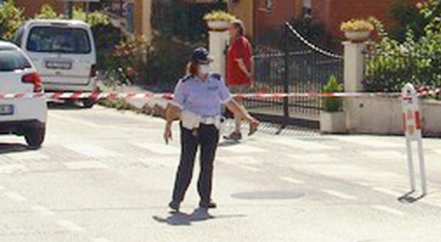 La polizia locale recanatese impegnata in un intervento