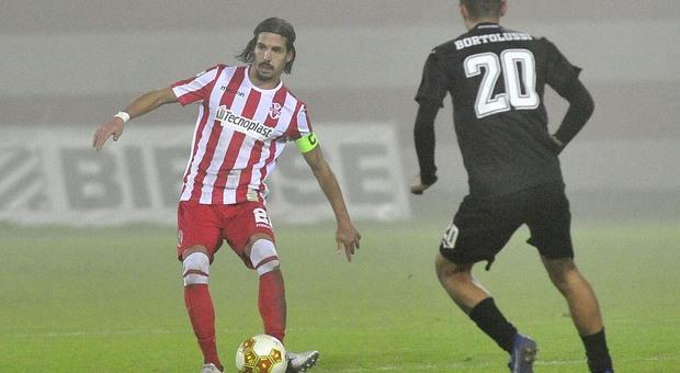 Mattia Gennari durante Vis Pesaro-Cesena