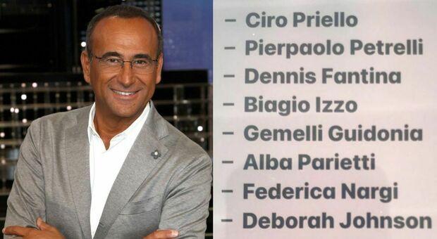 Tale e Quale Show, Carlo Conti svela il cast: ci sono Ciro Priello, Federica Nargi, Alba Parietti e Pierpaolo Pretelli