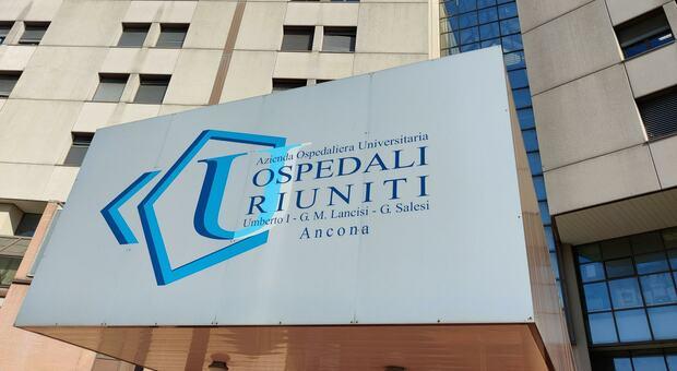 L'ingresso degli Ospedali Riuniti di Ancona