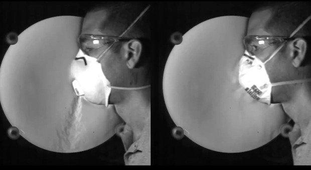Mascherine Ffp2 con la valvola o senza: le prime non proteggono dal contagio, le seconde sì. Lo studio che lo dimostra VIDEO