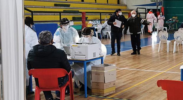 Il polo vaccinale di San Benedetto del Tronto nelle Marche