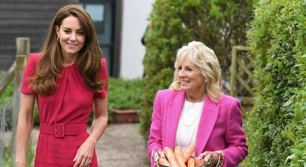 Kate Middleton, prove da regina al G7. E lancia una frecciatina a Meghan: «Lilibet? Ancora non l'ho mai vista»