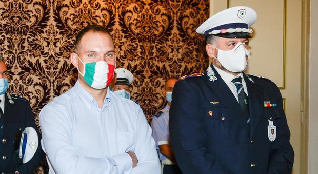 L'assessore Paolo Renna e il comandante Danilo Doria