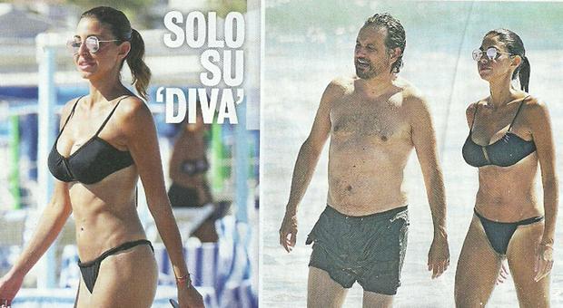 Leonardo Pieraccioni e la fidanzata Teresa Magni al mare a Forte dei Marmi (Diva e donna)