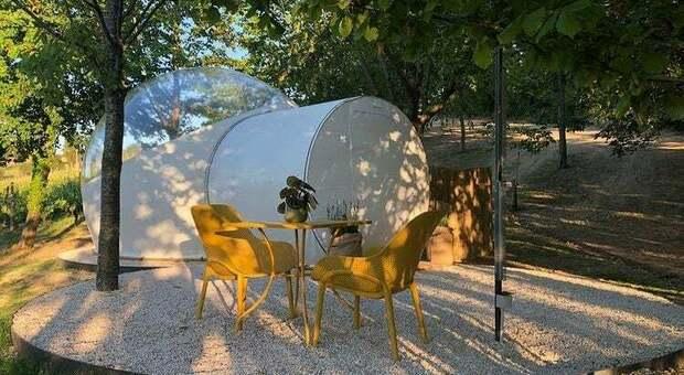 """La bubble room a Corinaldo si chiama """"La bolla del borgo"""""""