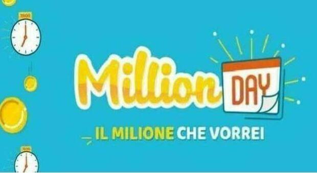 Million Day, estrazione dei cinque numeri vincenti per il concorso di domenica 18 luglio
