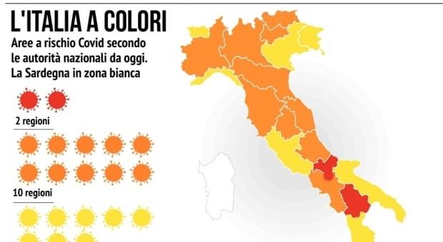 Scattano i nuovi colori Covid: mezza Italia arancione: ecco le regole. Da sabato cambiano i divieti
